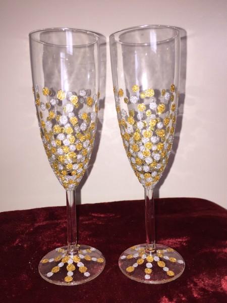 Glitter Toasting Flutes