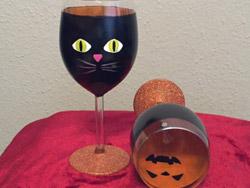 Halloween Black Cat and Jack-O-Lantern